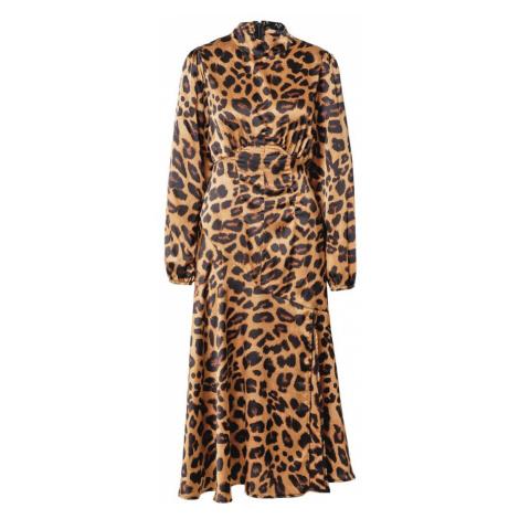 AX Paris Šaty světle hnědá / hnědá / černá