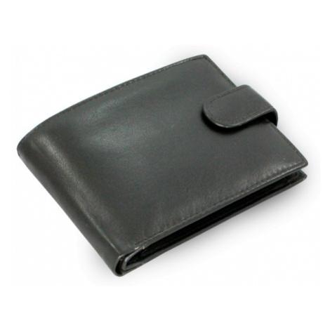 Černá pánská kožená peněženka se zápinkou Bulpen Arwel