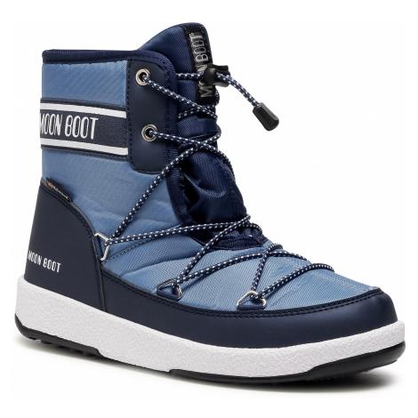 Sněhule MOON BOOT - Jr Boy Mid Wp 2 34052500004 D Navy/Blue/Avio