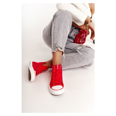 Women's High Sneakers Big Star DD274334 Red
