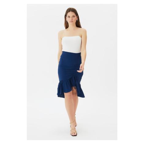 Trendyol Navy Pleated Skirt