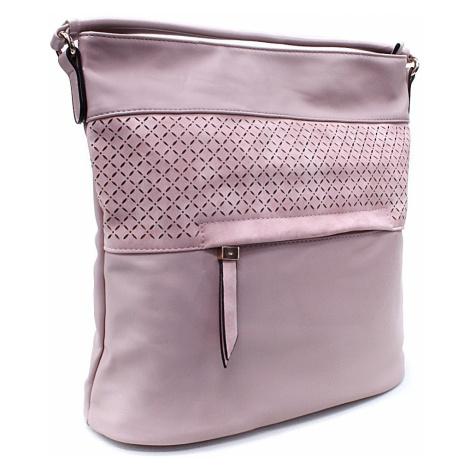 Tmavě růžová dámská crossbody kabelka s vyraženým vzorem Jocelyn New Berry