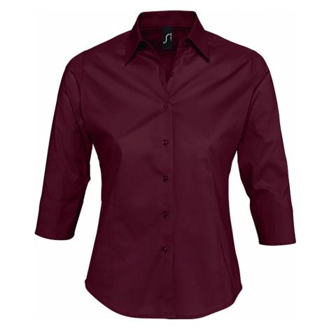 SOĽS Dámská košile EFFECT 17010164 Medium burgundy