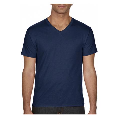 Pánské triko V - modré Tee Jays