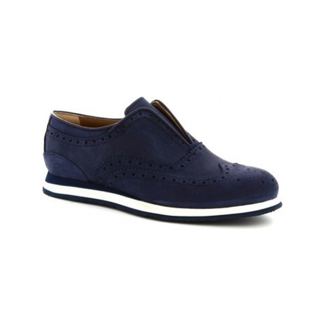 Leonardo Shoes 379_3 PE NABUK BLUE Modrá