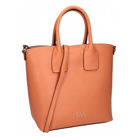 Hladká, lichoběžníková shopper kabelka s dvojitou rukojetí, Nobo