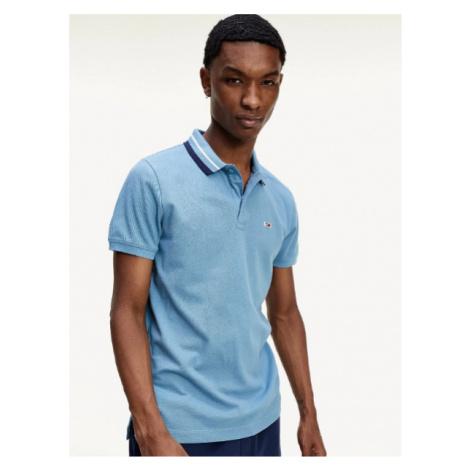 Tommy Hilfiger Tommy Jeans modré polo tričko TIPPED STRETCH POLO