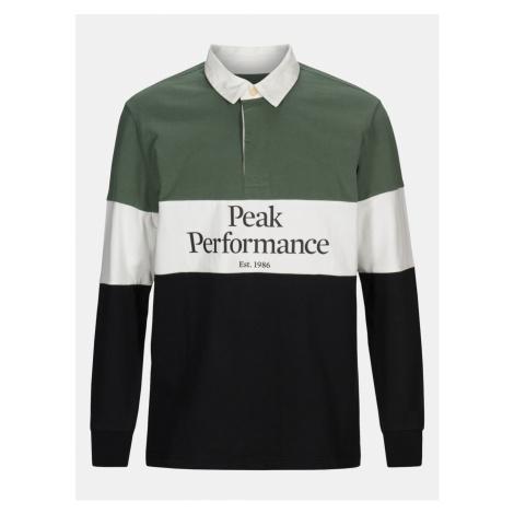 Polokošile Peak Performance M Rugby Ls - Zelená
