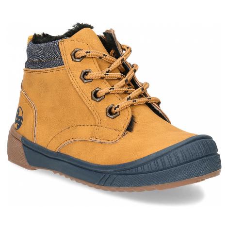Žlutá dětská kotníčková obuv s prošitím Bubblegummers
