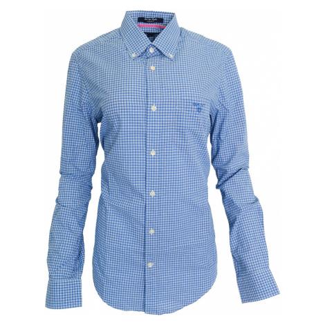 Modrá károvaná košile Gant