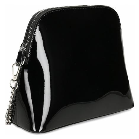 Černá dámská lakovaná kabelka Baťa
