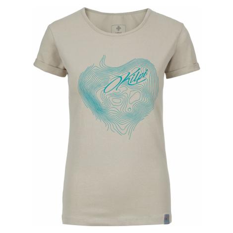 KILPI Dámské bavlněné tričko YANI-W JL0228KIBEG Béžová