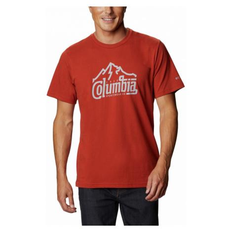 Tričko Columbia Path Lake™ Graphic Tee II M - červená