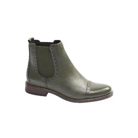 Zelená kožená Chelsea obuv 5th Avenue