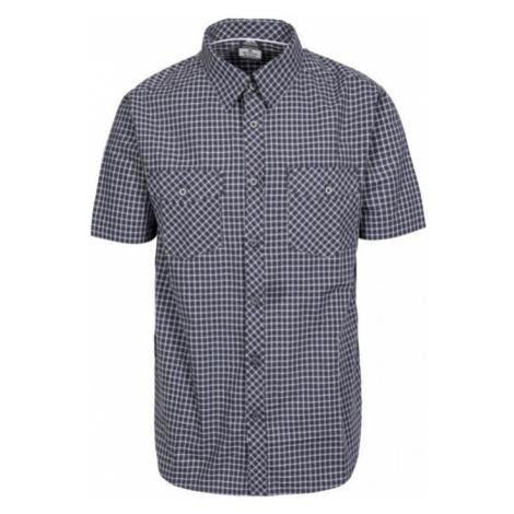 Trespass UTTOXETER Pánská košile MATOSBTR0007-DGH DARK GREY CHECK