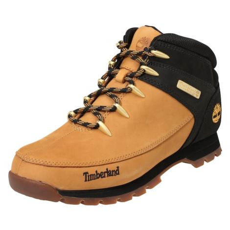 TIMBERLAND Šněrovací boty 'Euro Sprint Hiker' černá / šafrán