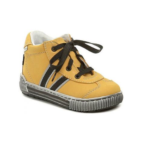 Pegres 1401 Elite žluté dětské botičky Žlutá