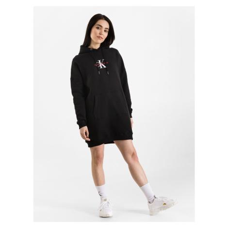 Monogram Šaty Calvin Klein Černá