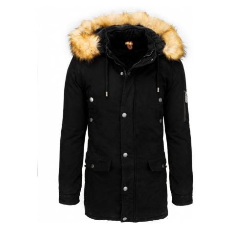 Dstreet Trendová zimní parka v černé barvě