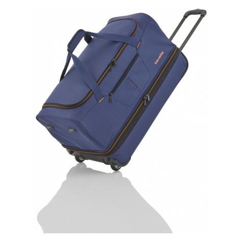 Travelite Cestovní taška na kolečkách Basics Wheeled duffle L Navy/orange 98/119 l