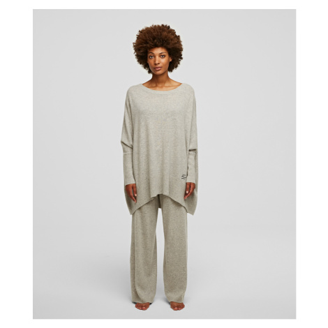 Svetr Karl Lagerfeld Wool Cashmere Tunic - Bílá