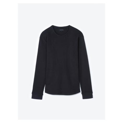 GATE Jednoduché vaflové tričko s dlouhým rukávem