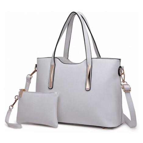Bílý dámský kabelkový set 2v1 Triel Lulu Bags