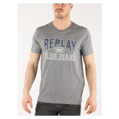 Tričko Replay M3598 T-Shirt Šedá