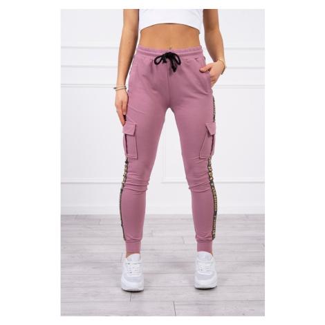 Pants cargo dark pink Kesi