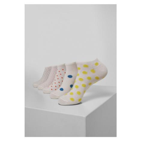 Urban Classics No Show Socks Dots 5-Pack multicolor