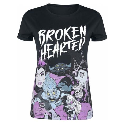 Disney Villains Broken Hearted Dámské tričko černá