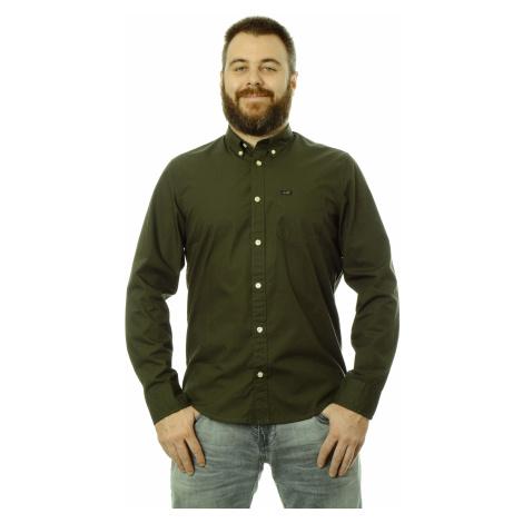 Košile Lee Button Down pánská zelená
