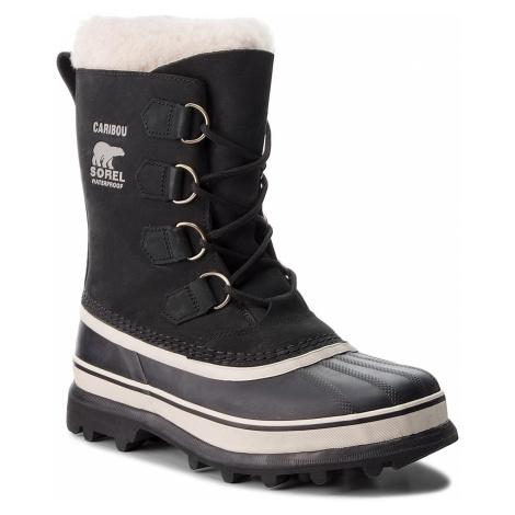 Sněhule SOREL - Caribou NL1005 Black/Stone 011