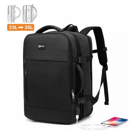Kono černý cestovní batoh unisex EXPANDABLE 2014