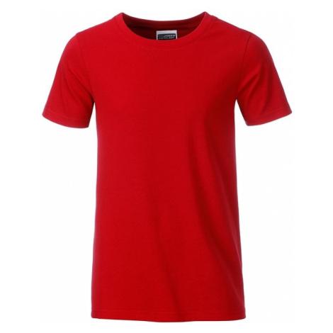 James & Nicholson Klasické chlapecké tričko z biobavlny 8008B
