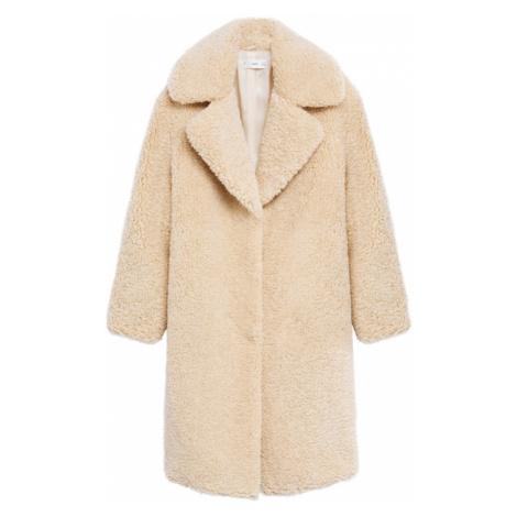 MANGO Zimní kabát 'Rizos' krémová