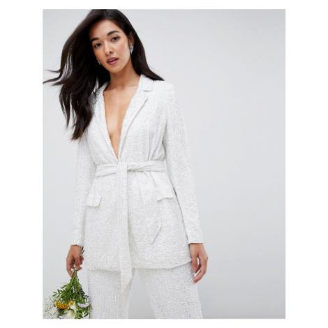 ASOS EDITION embellished blazer-White