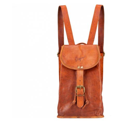 Bagind Lalita - Dámský kožený batoh hnědý, ruční výroba, český design