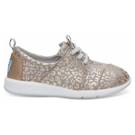 Grey Chambray/Cheetah Youth DelRey Toms