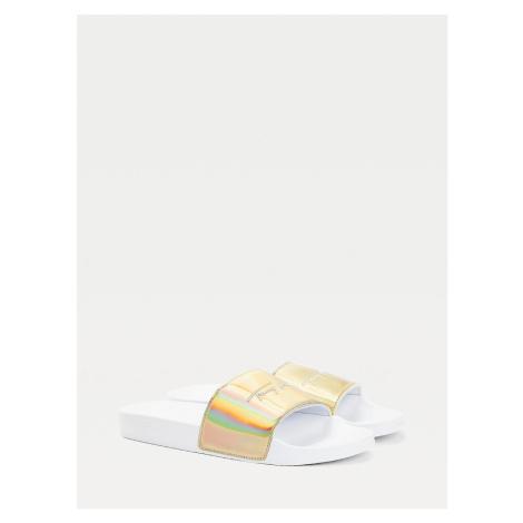Tommy Hilfiger dámské bílo zlaté pantofle