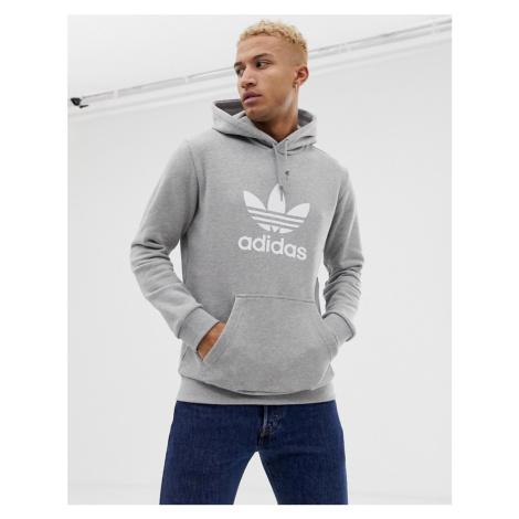 Adidas Originals Trefoil hoodie in grey