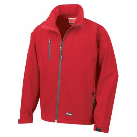 Pánská 2 vrstvá softshellová bunda - Červená