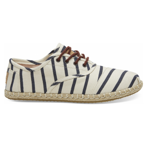 Natural Stripe Woven Women Sneak Toms