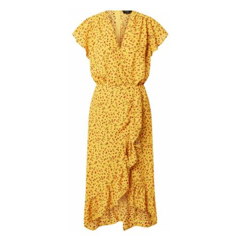 AX Paris Šaty žlutá / jedle / červená