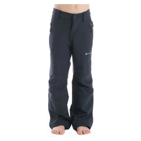 Dětské softshell kalhoty Alpine Pro PLATAN - černá