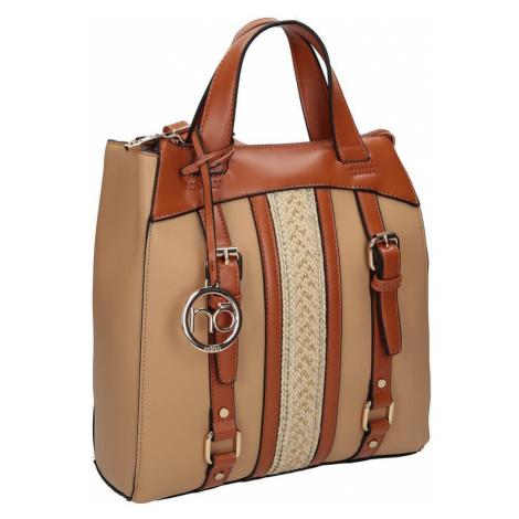 Stylový batoh s pruhovaným motivem a pásky, Nobo