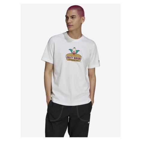 Simpsons Krusty Burger Triko adidas Originals Bílá