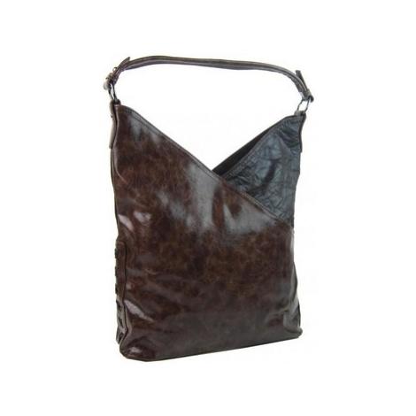 Bella Belly Moderní dámská kabelka přes rameno 5140-BB kávově hnědá Hnědá