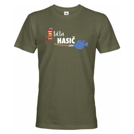 Pánské tričko pro hasiče Táta hasič - originální dárek BezvaTriko