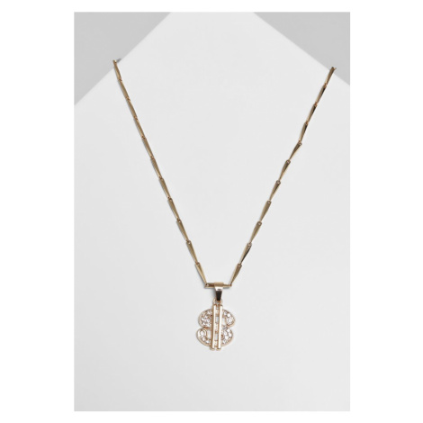 Small Dollar Necklace - gold Urban Classics